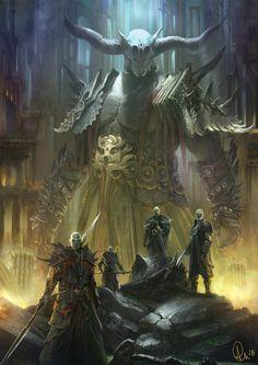 Fantasy Art Watch — Titan by Alejandro Olmedo 3d Fantasy, Fantasy Monster, Monster Art, Fantasy Warrior, Medieval Fantasy, Fantasy Artwork, Fantasy World, Dark Fantasy, Fantasy Creatures