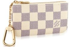Damier Azur canvas,grained calf leather lining,shiny brass pieces  Zipped  closure  Key holder  Attaches to the D-ring found on many Louis Vuitton bags 0af56fc4efe