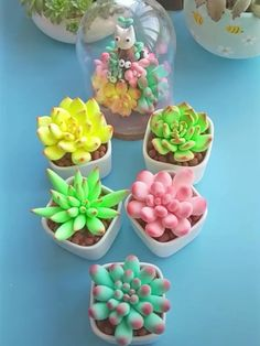 Cute Polymer Clay, Cute Clay, Polymer Clay Flowers, Polymer Clay Crafts, Diy Clay, Crea Fimo, Cake Decorating Videos, Clay Pot Crafts, Diy Crafts Hacks
