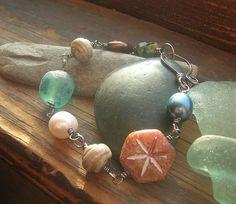 Beach Memories Bracelet Sterling Silver freshwater by kmaylward