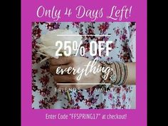 Friends and Family 25% Off Sale