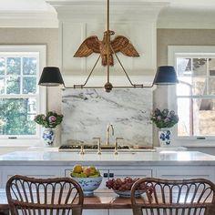 Lisa Hilderbrand (@lisa_hilderbrand) • Instagram photos and videos Range Hood Cover, Beadboard Backsplash, Antique House, Kitchen Remodel, Ceiling Lights, Interior Design, Antiques, Table, Lisa