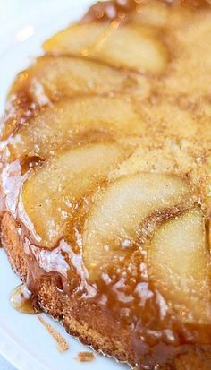 Brown Butter Upside Down Pear Cake Recipe | Cooking For Keeps
