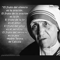 Frases de MadreTeresa de Calculta. Pensamientos y Reflexiones. Amor, Paz, Servicio.