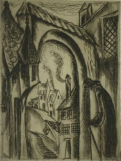 Zilzer, Gyula (American 1898-1969) Paris- drypoint, 1927, signed and dated in pencil,