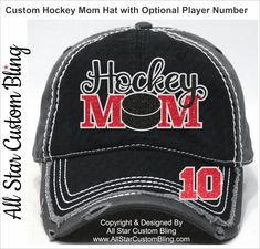 886b26c69c8 Hockey Mom Hat with Player Number