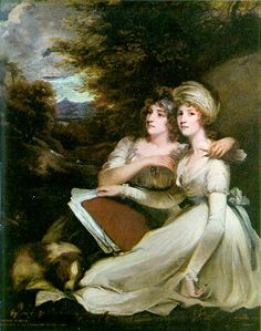 Portrait of Frankland sisters | John Hoppner, 1795