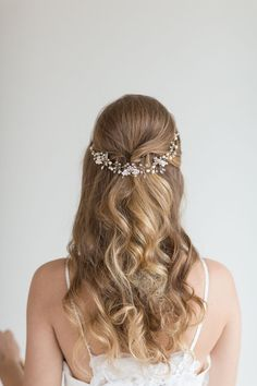 Wedding Hair Vine Bridal Headpiece Bridal Pearl Hair Swag