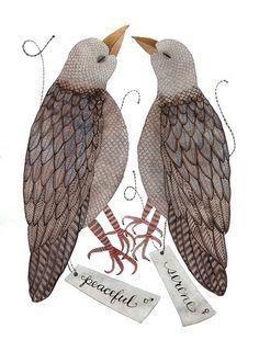 Custom watercolor birds