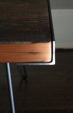 Tavolo legno-metallo