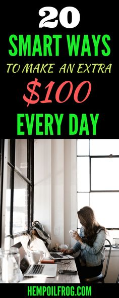 20 Smart Ways To Make An Extra $100 Every Day: Easy Ways to Make Money Online and Work from Home.  Here are the fastest and easiest ways to make money online while working from home. Online Work From Home, Work From Home Business, Work From Home Jobs, Make Money From Home, Way To Make Money, How To Make, Business Ideas, Make Money Blogging, Money Tips