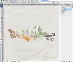 painting with digital stamps - tutorial by Katie Pertiet