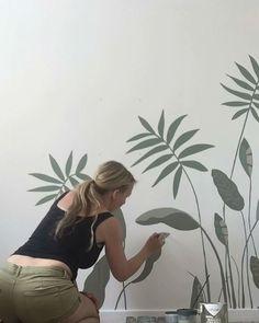 Wall Murals Bedroom, Mural Wall Art, Diy Wall Art, Diy Art, Bedroom Plants Decor, Kids Room Murals, Tree Wall Murals, Wall Art Decor, Wall Painting Decor