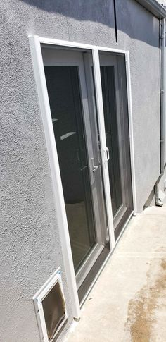 Our installers Cesar and Oscar installed this set of Double Retractable Screen Doors over kitchen French Doors in Newport Beach, California. Do you have a set of French Doors that you want to be able to leave open without finding moths and gnats later? Call (866) 567-0400 or go to www.chiproducts.com to purchase your StowAway Retractable Screens. Retractable Screen Door, Pull Bar, Screen Doors, Newport Beach, French Doors, California, Kitchen, Cooking, Kitchens