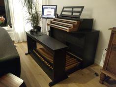 Hauptwerk console zelf gemaakt van Heyligers orgel
