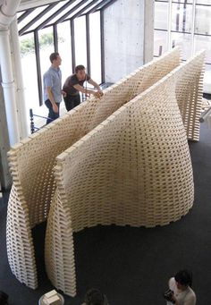 Professor Ingeborg M. Rocker of Rocker-Lange Architects and students at the Graduate School of Design at Harvard University, USA, have used a robot to build an undulating double-wall structure.