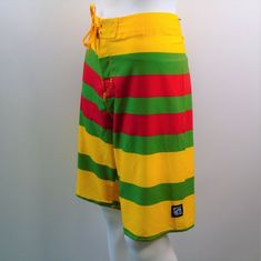 346c3b0c96 Island Haze Board Shorts Mens Size XL Skate Surf Swim Trunks Color Block  Stripe #IslandHaze