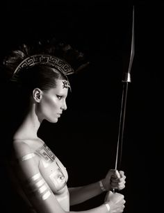 Pirelli Calendar 2011 by Karl Lagerfeld: Iris Strubegger as Athena