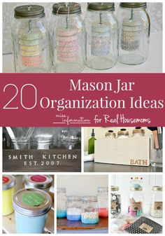 24 handy ways to use mason jars in your kitchen mason for Mason jar kitchen ideas
