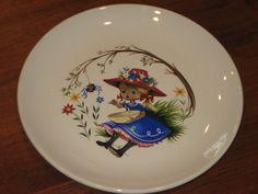 Little Miss Muffet Old Foley plate James Kent by JoesCopperKettle, $9.99