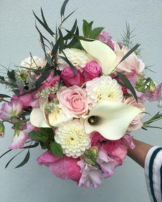 Pretty in pink wedding bouquet for a very special Bride today xx Raven, Pretty In Pink, Wedding Bouquets, Floral Wreath, Wreaths, Bride, Flowers, Instagram, Wedding Bride