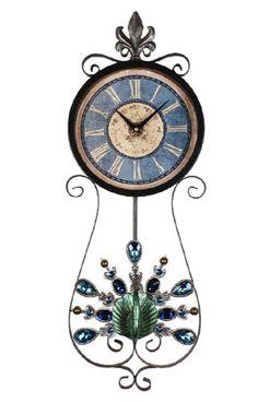 STRIKING PEACOCK INSPIRED CLOCK