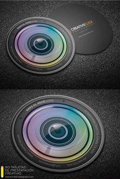tarjetas de presentacion troqueladas para fotografo