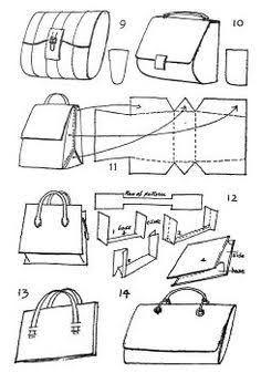 Картинки по запросу leather bag patterns