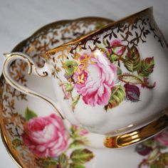 Royal Albert Tea Cup and Saucer from Pink Dahlia Studio on Etsy