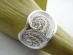 Handmade Sterling Silver Ring  Filigree by SusanaTeixeiraJewels, $63.00