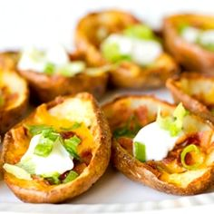 A recipe for potato skins - a delicious appetizer and always a crowd-pleaser!