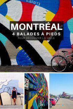 Visiter Montréal: 4 balades à pieds pour découvrir la ville, son histoire, son art de rue et sa culture. #montrealcity #montreal #montrealmoments