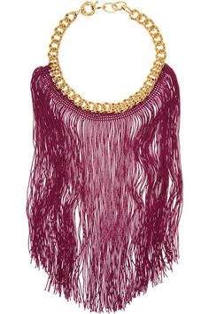 Missoni Gold-tone chain and fringed necklace