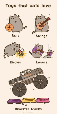 Toys cats love pusheen