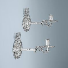 A Pair of Charles II Antique English Silver Wall Lights London, c. 1680 by Thomas Jenkins $145,000