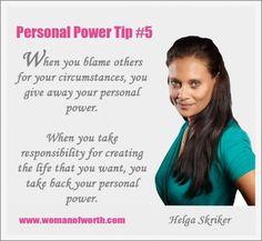 Helga Skriker Personal Power Tips 5