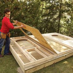 How to Build a Shed on the Cheap (DIY) | Family Handyman Cheap Storage Sheds, Storage Shed Plans, Wood Shed Plans, Diy Shed Plans, Bed Plans, Backyard Buildings, Pump House, Cool Tree Houses, Shed Design