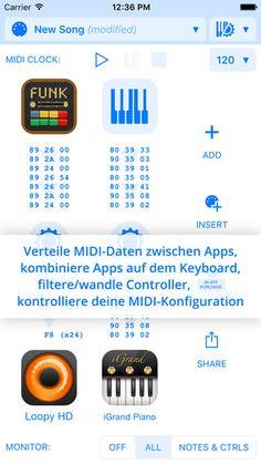 Midiflow – MIDI Router/Prozessor/Sync Clock/Bluetooth von Johannes Doerr