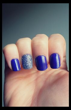 Purple and silver glitter