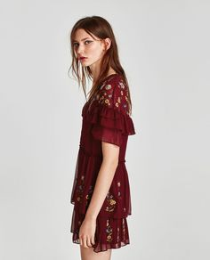 FRILLED EMBROIDERED DRESS-View all-DRESSES-TRF | ZARA United Kingdom