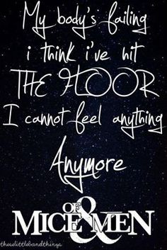 I cant feel anything anymore.