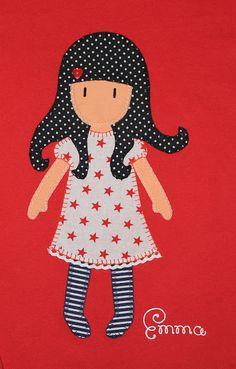 cocodrilova: camiseta gorjuss  #camisetaspersonalizadas #gorjuss #hechoamano   camiseta-gorjuss