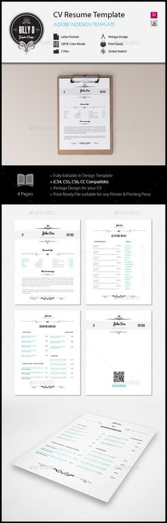 Vintage Cv And Portfolio  Cv Design Cv Template And Resume Cv