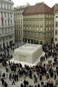 Holocaust monument, Judenplatz, Vienna, Austria | Holocaust Memorials Around The World - BuzzFeed News