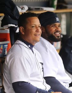 Miguel Cabrera #24 and Prince Fielder #28.  Two of my favorite DETROIT TIGERS baseball players!