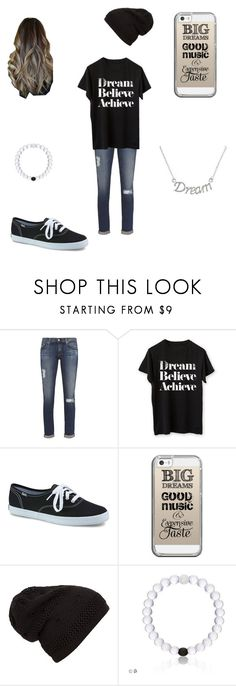 """dream!"" by a-hidden-secret ❤ liked on Polyvore featuring AG Adriano Goldschmied, Keds, Casetify and Mondevio"