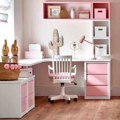 34 Inexpensive Home Office Design Ideas For Youthful Girls To Try Asap - I am sitting here wondering what the heck I am doing. I don't go to work everyday. I work from home. Working at home can be as d. Study Room Decor, Cute Room Decor, Bedroom Decor, Girl Bedroom Designs, Girls Bedroom, Bedroom Corner, Home Office Design, Home Office Decor, Bedroom Wardrobe