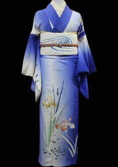 田中翼のアンティーク着物~Wing~ Yukata Kimono, Kimono Japan, Japanese Kimono, Japanese History, Japanese Outfits, Traditional Dresses, Asian Fashion, Iris, How To Wear