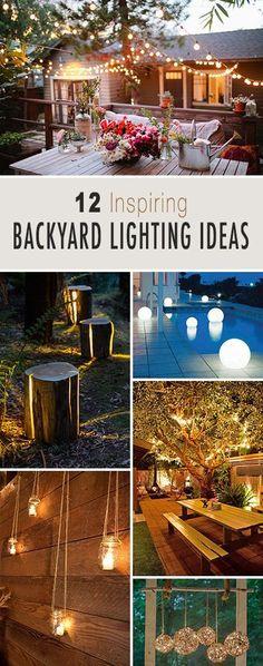 Inspiring Backyard Lighting Ideas, Lots of creative ideas