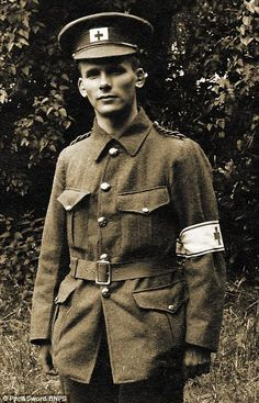 Ivan Bawtree, pictured here in uniform in 1915, was attached to the British Red Cross...